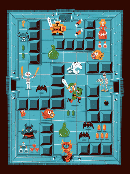 Legend of Zelda Print by Ian Glaubinger