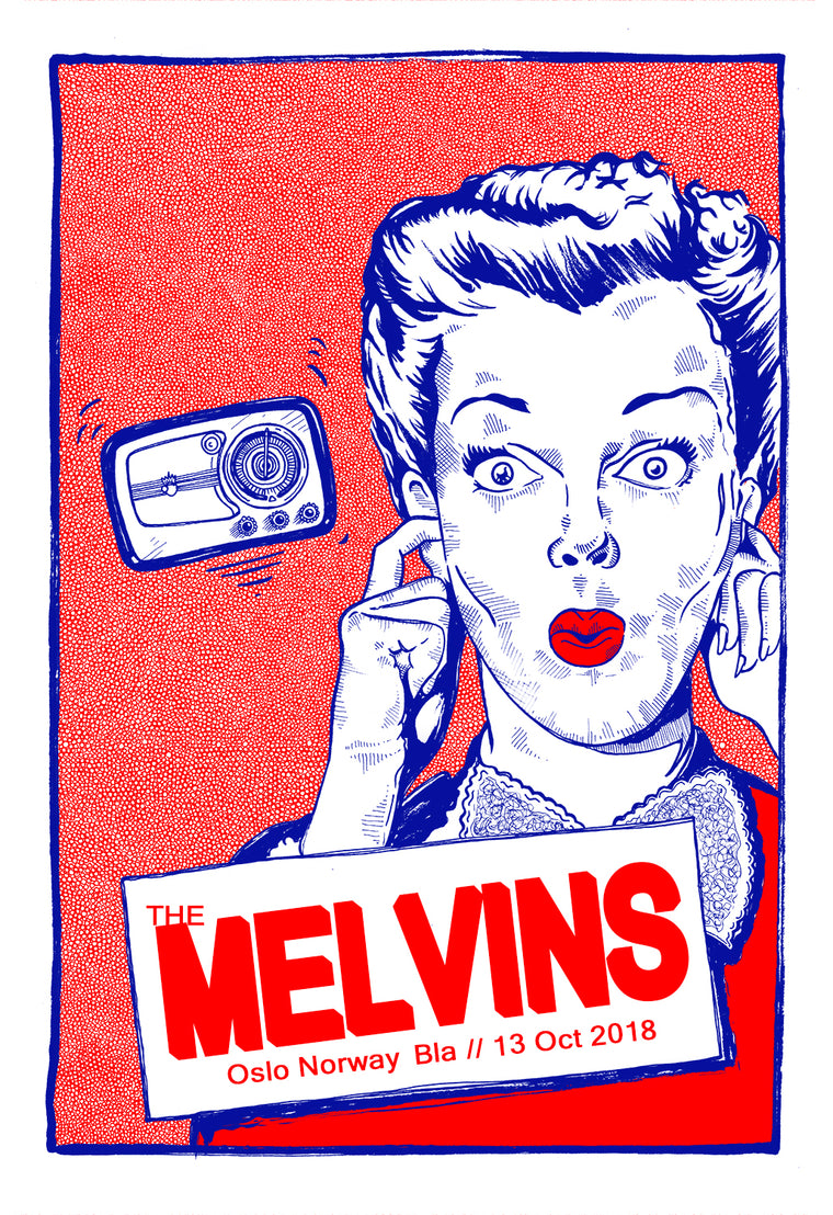 Melvins in Norway 2018 Print by Fugscreens Studios