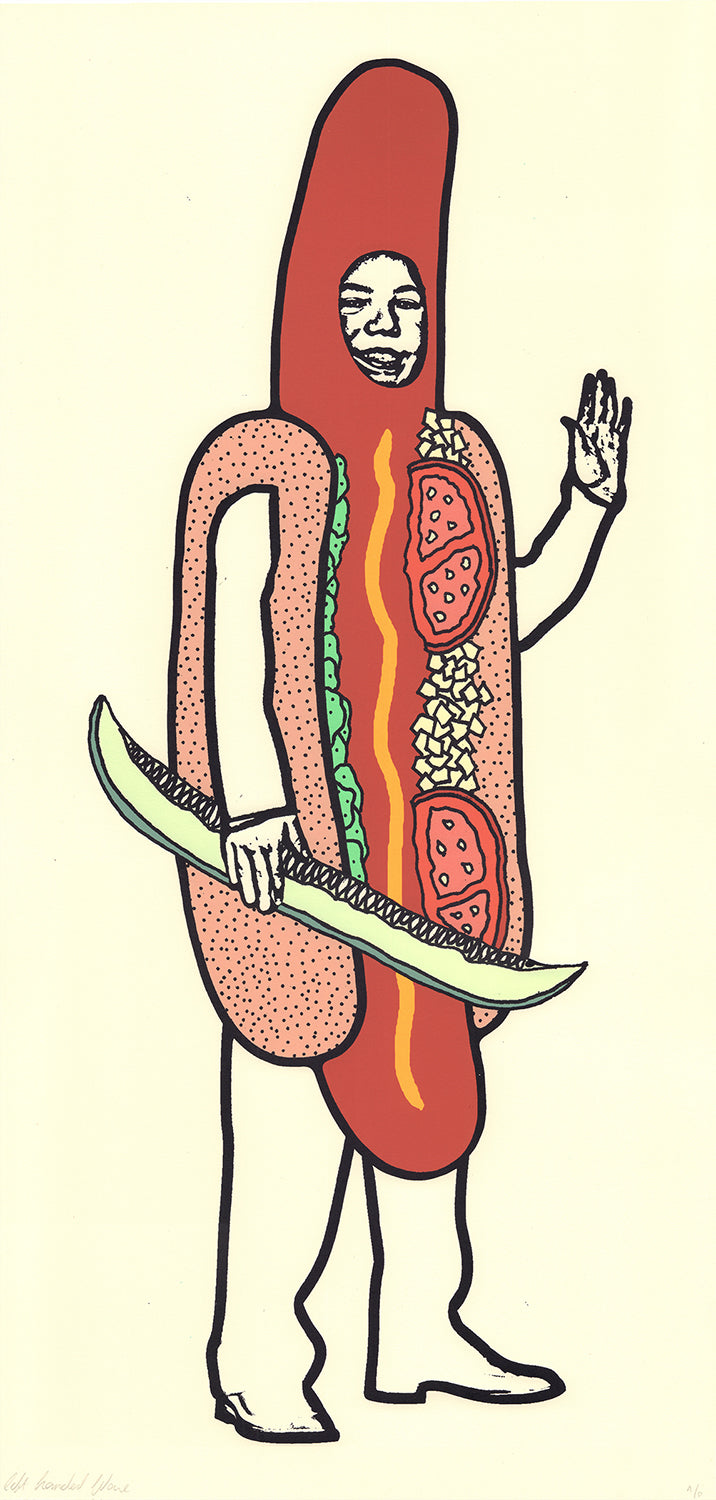 Chicago Hot Dog Print by LeftHandedWave