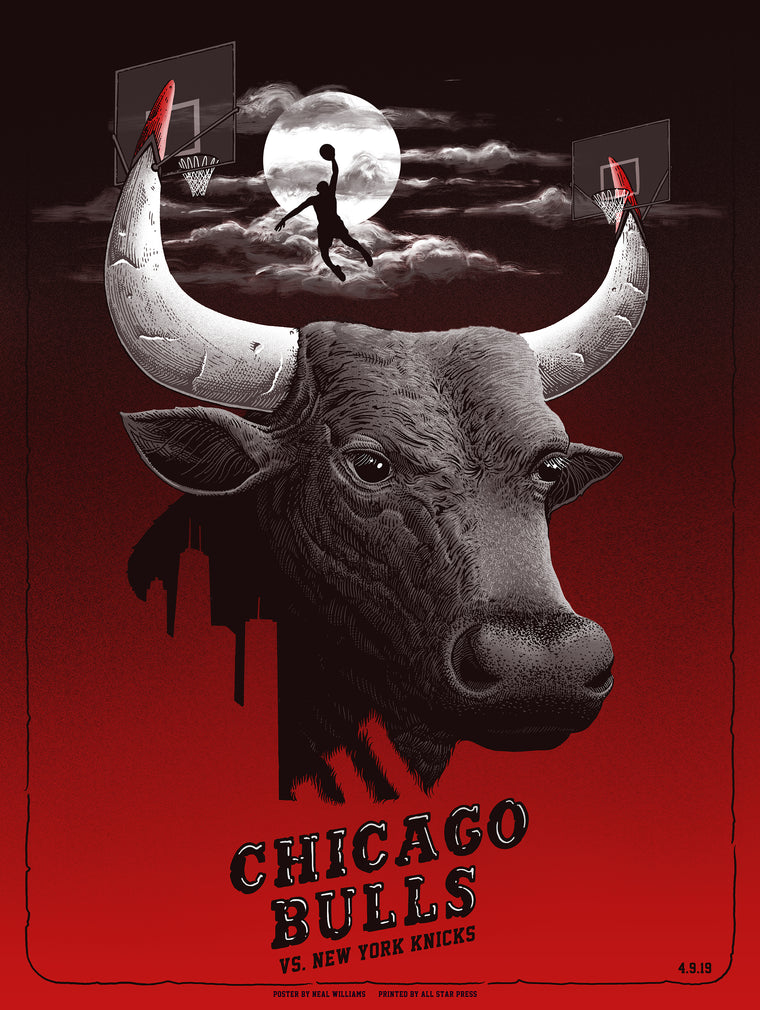 KNICKS VS Bulls Print by Neal Williams Regular