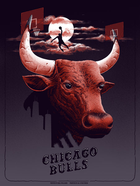 KNICKS VS Bulls Print by Neal Williams Variant
