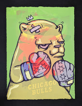 "Load image into Gallery viewer, ""Chicago Gloves Test Print: Chicago Bulls Purple"" by JC Rivera"