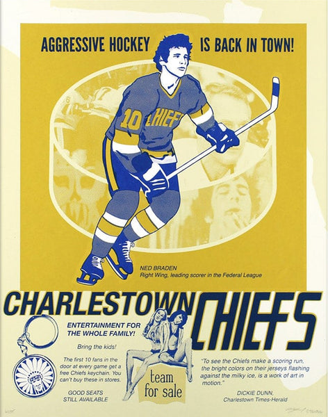 Slap Shot Screen Print by Arsenal Handicraft