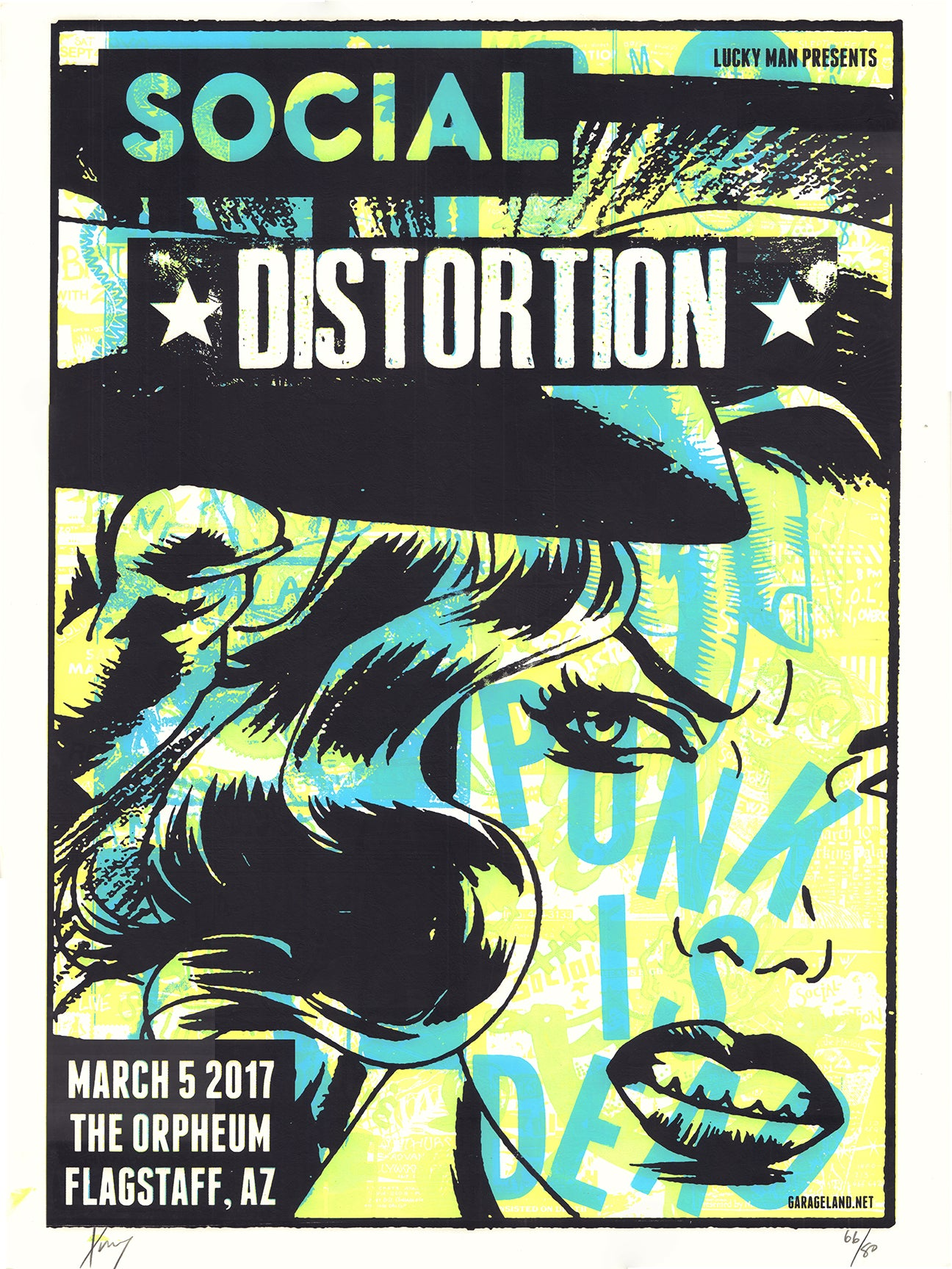 Social Distortion at The Orpheum Print