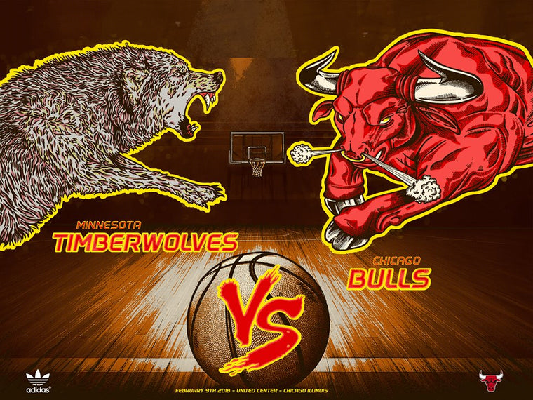 Chicago Bulls Exclusive: Timberwolves VS Bulls Print by Zissou Tasseff-Elenkoff