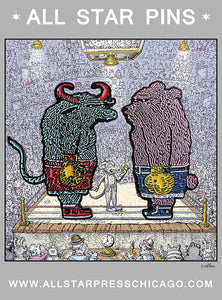 """Bear & Bull"" Pin Set by David Welker"