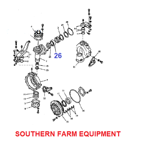 Products 4x4 Front Axle Diagram Southern Farm Equipment. Sf62092rs Bearingfront Axle 4x4. Ford. Ford 5000 Parts Diagram Front Axel At Scoala.co