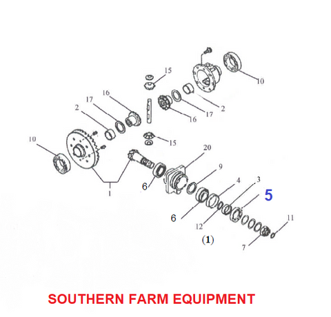 Products | 4X4 FRONT AXLE DIAGRAM | SOUTHERN FARM EQUIPMENT