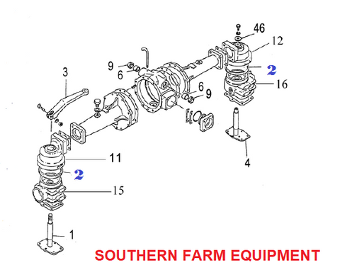 Yanmar Front Axle Parts on engine diagram