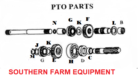 SF-01B  PTO PARTS DIAGRAM