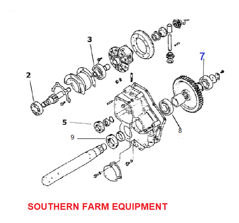 SF6306-2RS  BEARING, INNER REAR AXLE
