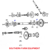SF-6209-2RS BALL BEARING SEALED,REAR AXLE