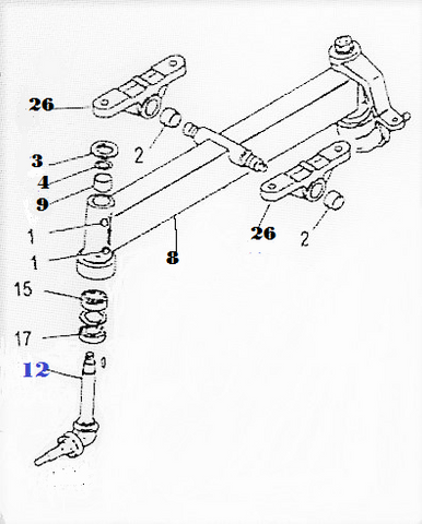 SFSA-4151  SPINDLE, FRONT AXLE