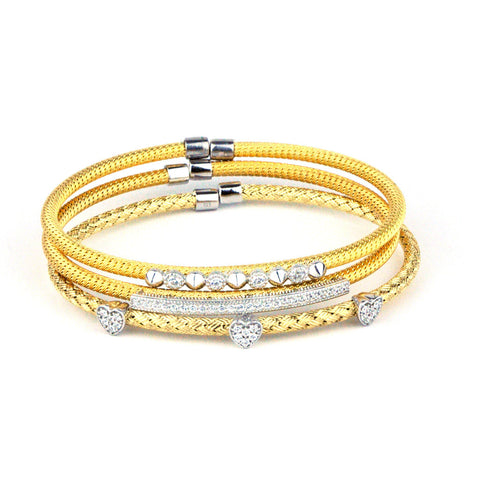 PAVE ITALIAN GOLD GIFT SET ONE FREE SURPRISE Rosa Leal Jewelry