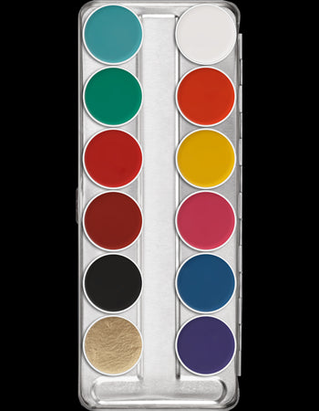 Kryolan Aquacolor palette 12 color