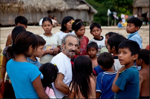 Co-Owner, Pascal Giacomini with the Matsés people in the Amazon.