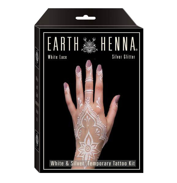 White and Silver Henna Tattoo Kit