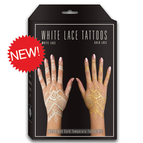 White and Gold Henna Tattoo Kit