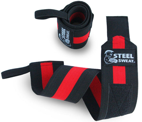 "Steel Sweat REDBACK Wrist Wraps - 24"" Super Heavy"