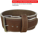 HYDE Leather Weight Lifting Belt - Brown