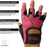 SCARR Pink Leather Gloves