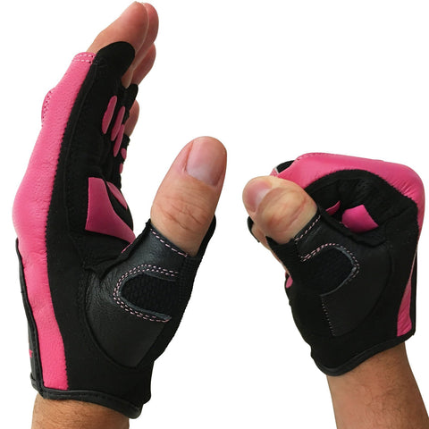 SCARR Pink Leather Gloves – Steel Sweat