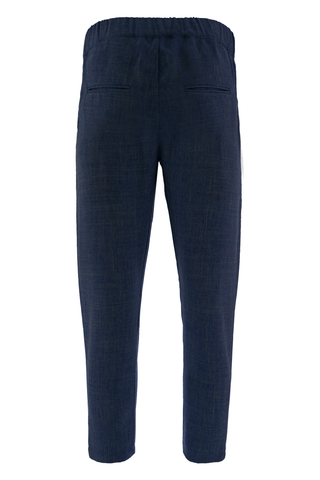 Navy Blue Linden Tailored Trousers