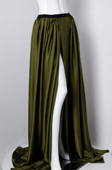 Olive Green Wrap Skirt