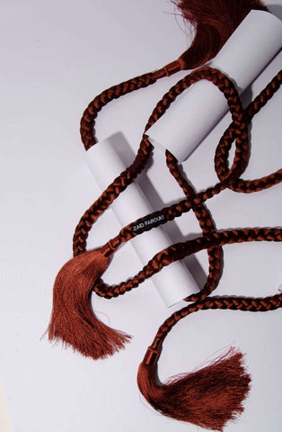 Brown Tassle Rope Belt