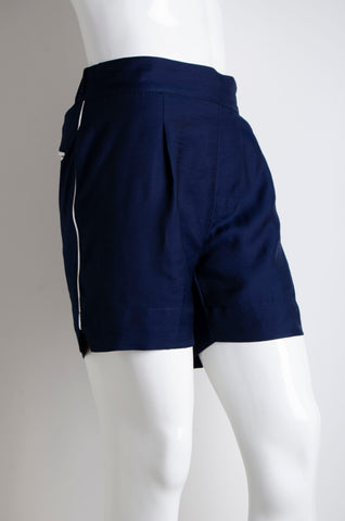 Navy Blue Pyjama Chic Shorts