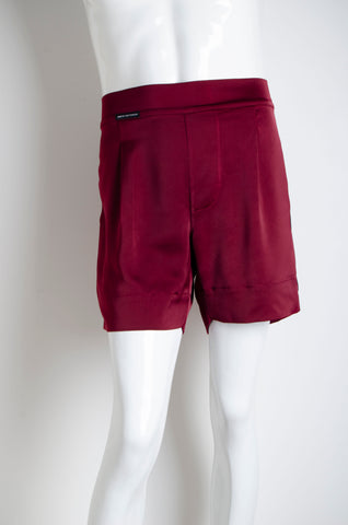 Blood Red Pyjama Chic Shorts