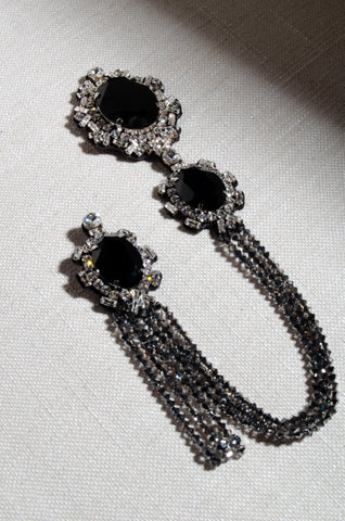 Black Crystal Brooch