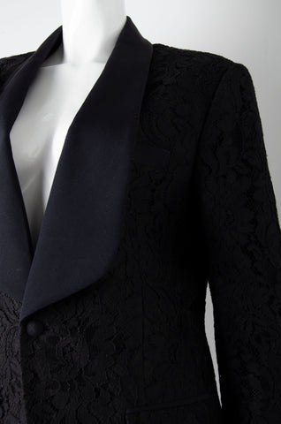 Black Lace Suit
