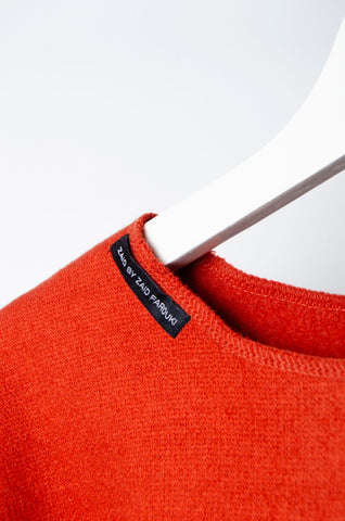 Orange Motif Sweater