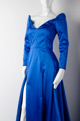Electric Blue Silk Gown