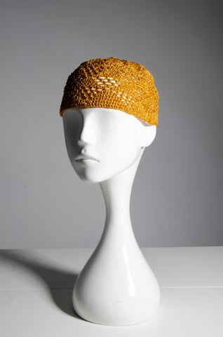 Golden Crochet Cap