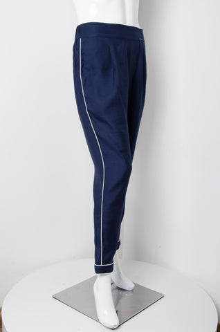 Navy Blue Pyjama Chic Pants