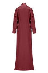Blood Red Tie Detail Abaya