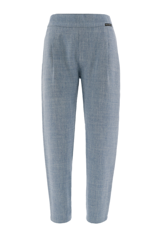 Light Blue Turquoise Tailored Trousers