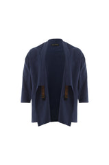 Navy Blue Wrap Top