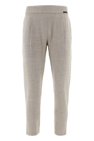 Beige Tailored Trousers