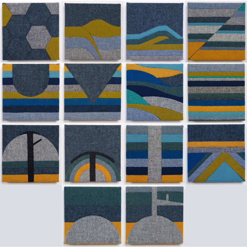 Jane Hunter Processes Artwork Textiles Scottish Artist Geology
