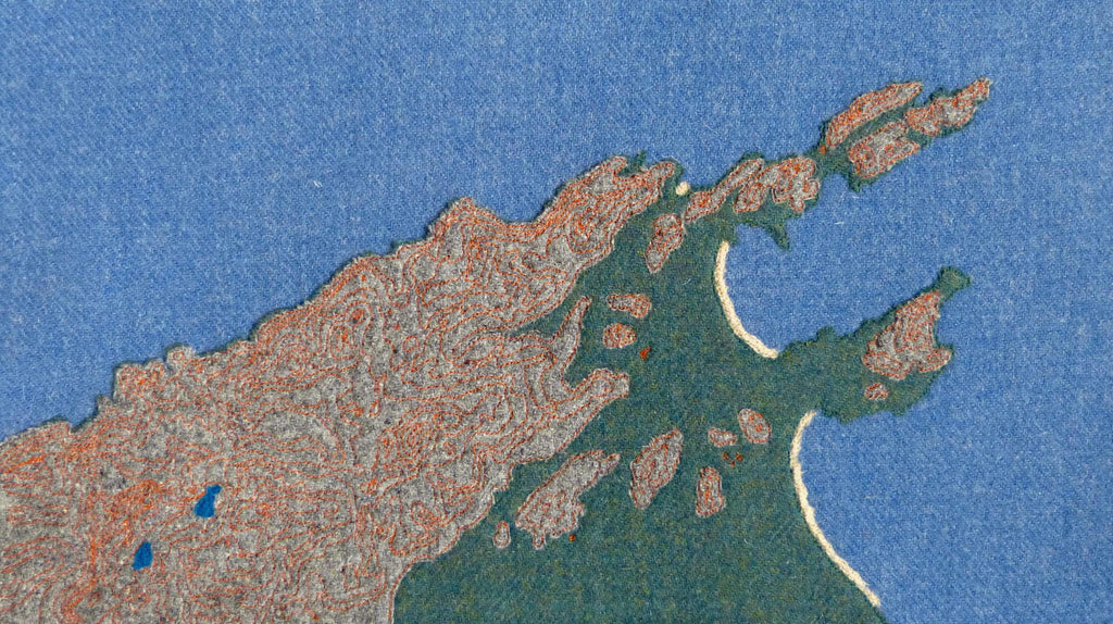 Contours of the mountains of northern Mallorca, Textile Art