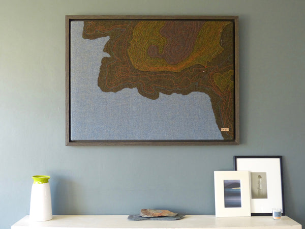 Scottish Textile Art Commission, Map of Loch Feochan, Argyll, Scotland