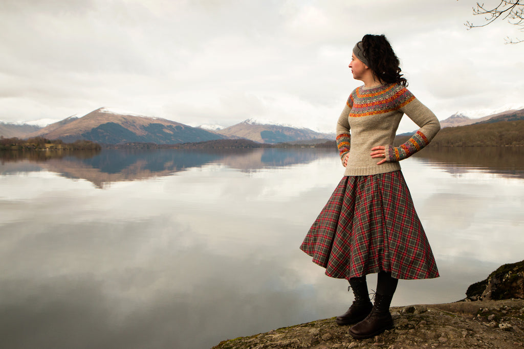 Miss Rachel's Yoke Knitwear by Kate Davies Designs at Loch Lomond