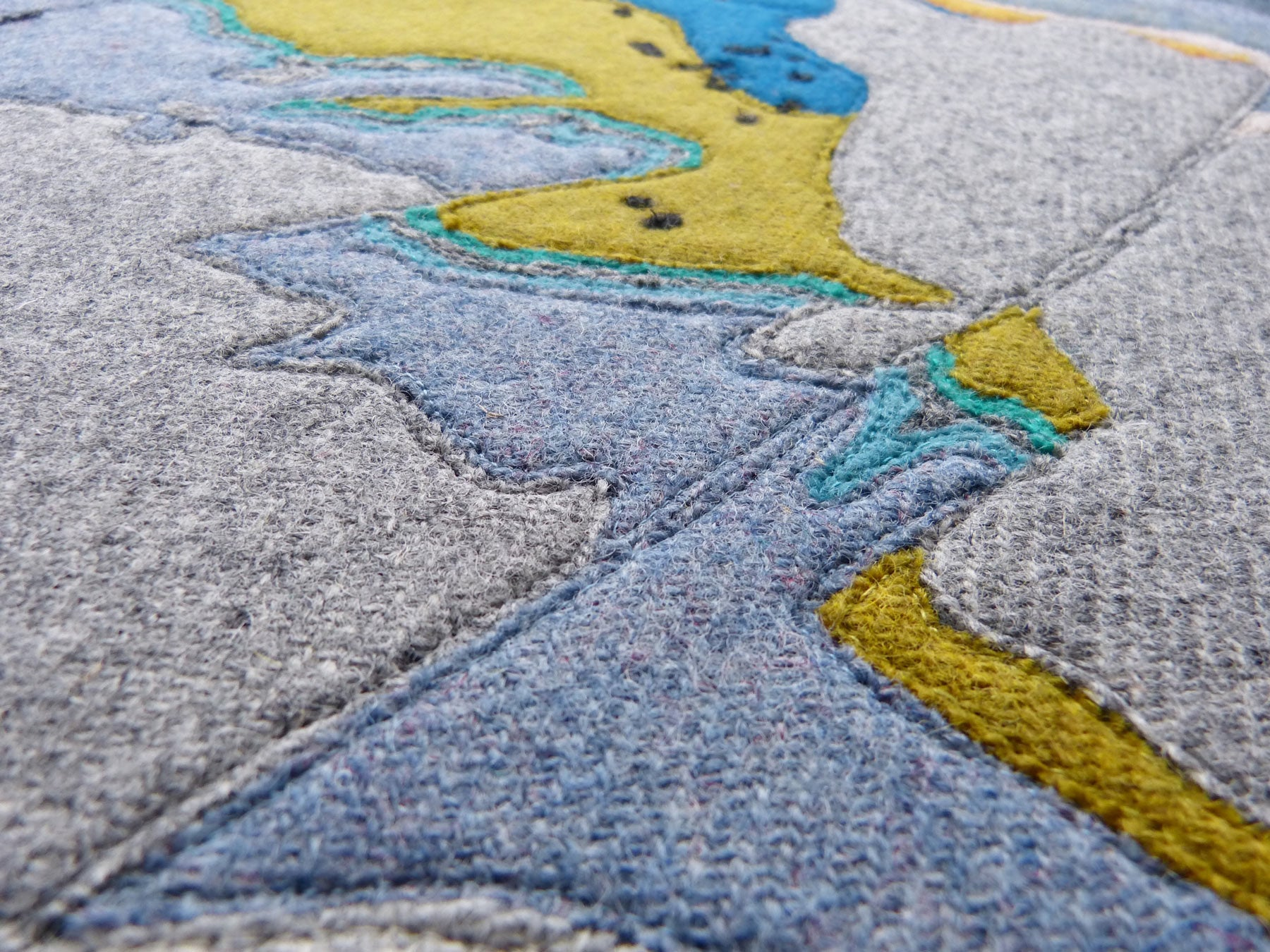 Geology Raasay Jane Hunter Scottish Textile Artist Harris Tweed
