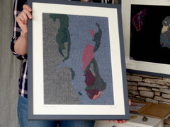 Textile Art Commission - Raasay Geology