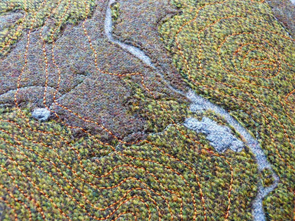 Aerial View of Glen Tanar - Map Art by Scottish Artist Jane Hunter