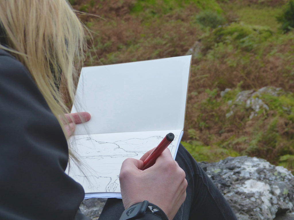 Paisley Artist Jane Hunter sketching for latest art commission