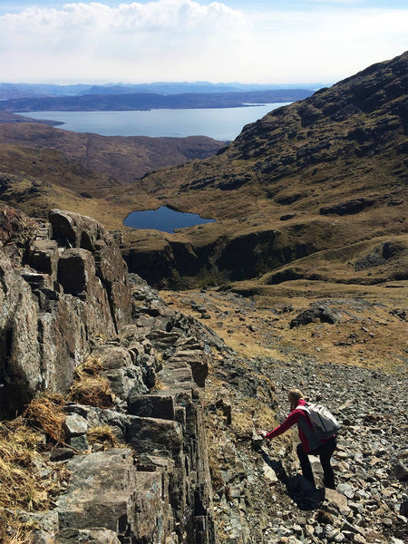 Jane Hunter Climbing Bla Bheinn Mountain on the Isle of Skye